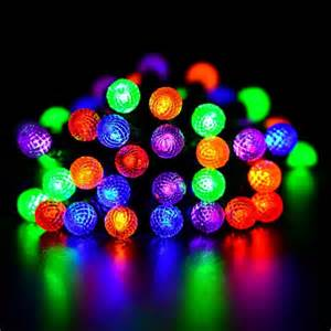 colored globe string lights battery operated globe string lights 50 led 13 1ft multi color