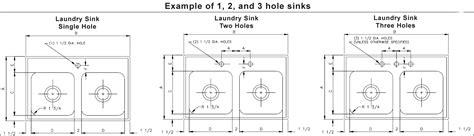 kitchen sink faucet hole size double bowl laundry sink 10 1 2 quot deep