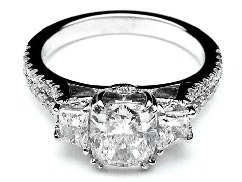 3 Stone Engagement Rings With Wedding Band