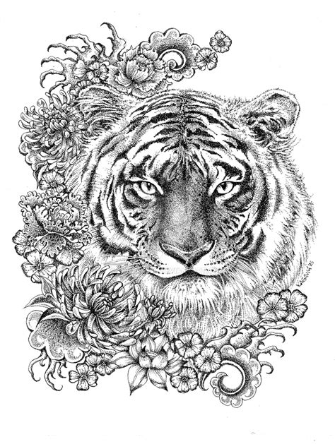 tiger mandala coloring pages year of the tiger by lkburke29 on deviantart