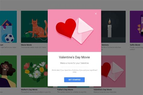 google themes movies google photos celebrates valentine s day with ai generated