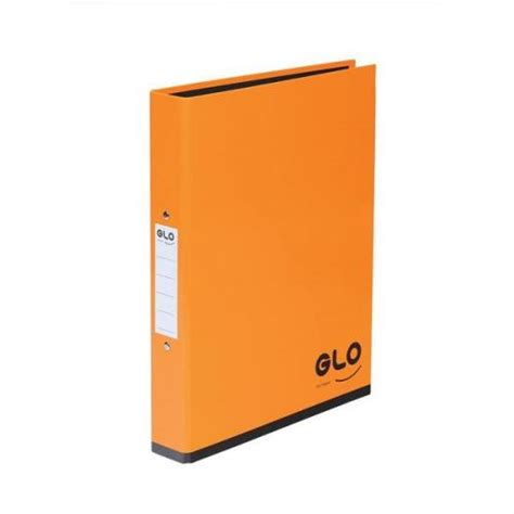 glo a4 ring binders 2 o ring size 25mm orange 1 x