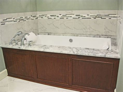 granite bathtub surround undermount jacuzzi tub with super white granite surround
