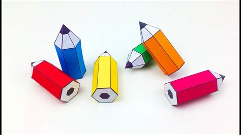 How To Make Paper Pencil - diy how to make a paper pencil paper crafts for