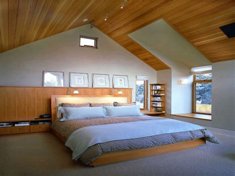 Attic Bedroom Lighting Ideas Magnificent Wooden Sloped Ceiling With Lighting Oak