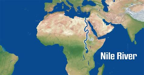 world map river nile the nile river