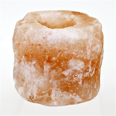 salzkristall le le en cristal de sel pour bougie chauffe plat