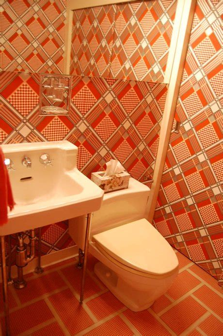 wallpaper over bathroom tiles 14 time capsule wallpapers floors retro renovation