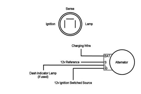 4 wire denso alternator connection diagram wiring