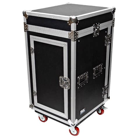 16 space rack with 10 space slant mixer top and dj