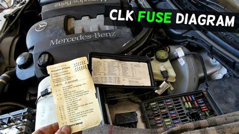 2009 sl 550 remove door lock cylinder mercedes w208 fuse location diagram clk200 clk230 clk 320