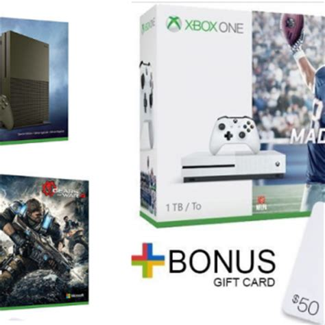 Xbox One Gift Card Deal - hot xbox one deals as low as 209 99 after gift card
