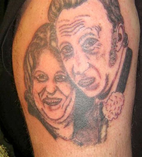 bad tattoo portraits bad tattoos 15 more did i just dos team jimmy joe