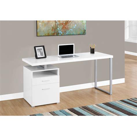 lynton office desk in white modern office furniture canada