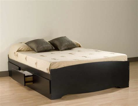 bed platform with storage full captains bed bookcase headboard feel the home