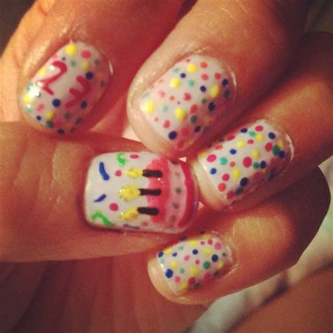 birthday themed nails birthday themed nail arts pretty designs