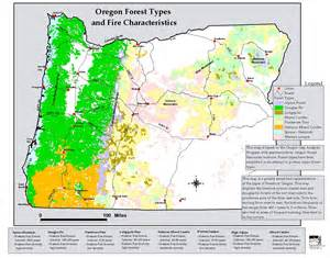 map of oregon fires the oregon wildland human