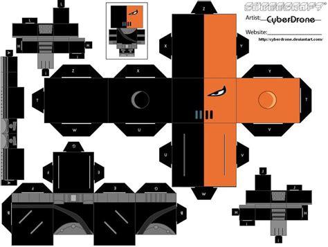 3d Origami Cyborg cubee slade by cyberdrone deviantart on deviantart