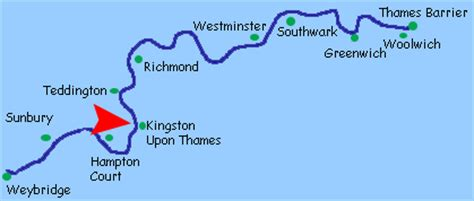 map of river thames richmond kingston upon thames river thames
