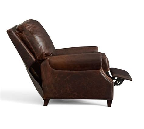 pottery barn leather recliner james leather recliner pottery barn