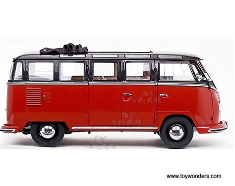 volkswagen minibus side view 1956 volkswagen samba bus by sun star 1 12 scale diecast