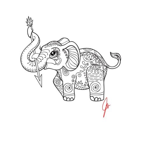 coloring pages tribal elephant 315 best images about adult colouring elephants zentangles