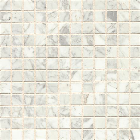 white carrara marble mosaic polished tiles box of 10