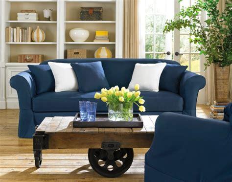 Blaues Sofa Welche Wandfarbe by Sofa Stretchbezug Der Ihre Inneneinrichtung Erfrischen Wird