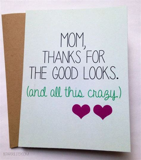birthday card ideas for mom funny mom card mother s day card mom birthday card