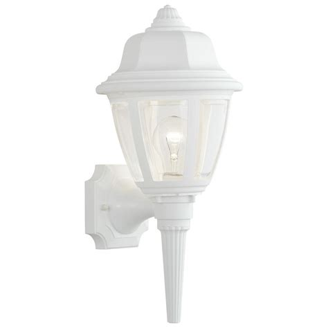 white outdoor wall lantern lighting 1 light matte white outdoor wall mount