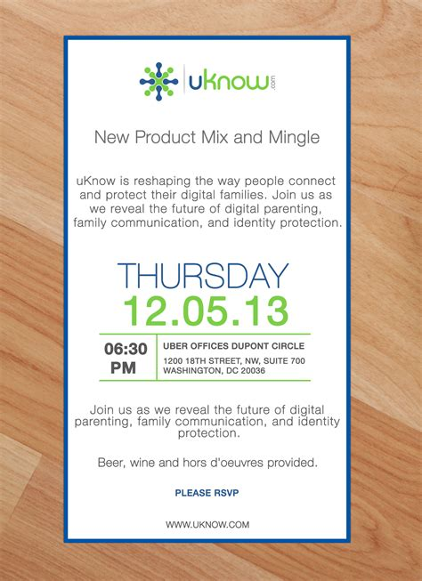 Invitation Letter To Launch A Product You Are Invited To Uknow S New Product Mix And Mingle Event