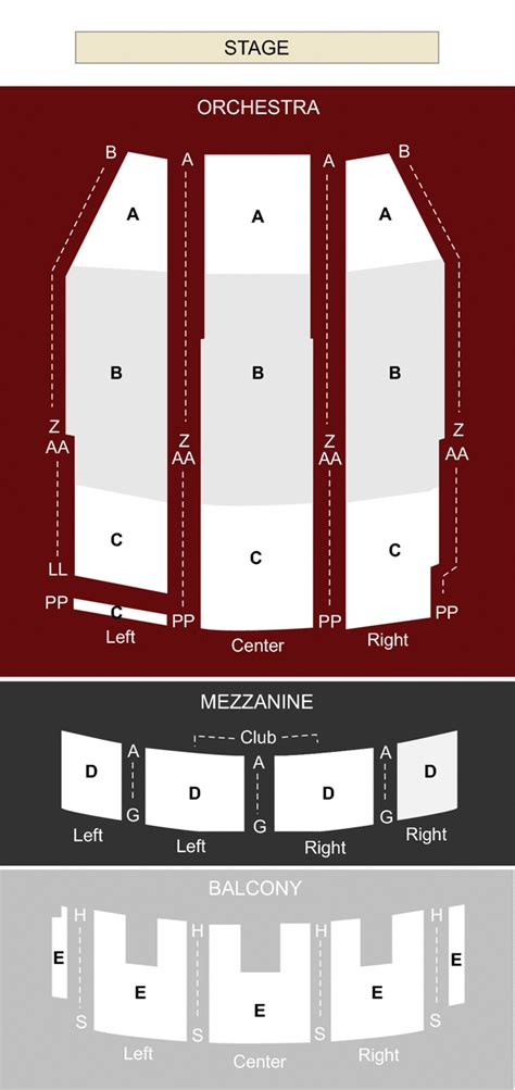 paramount theatre denver seating chart paramount theater denver co seating chart stage