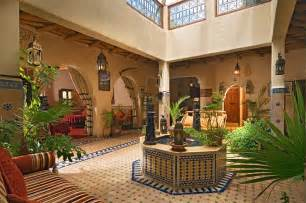 Spanish Mediterranean Style House Plans - moroccan patios courtyards ideas photos decor and inspirations