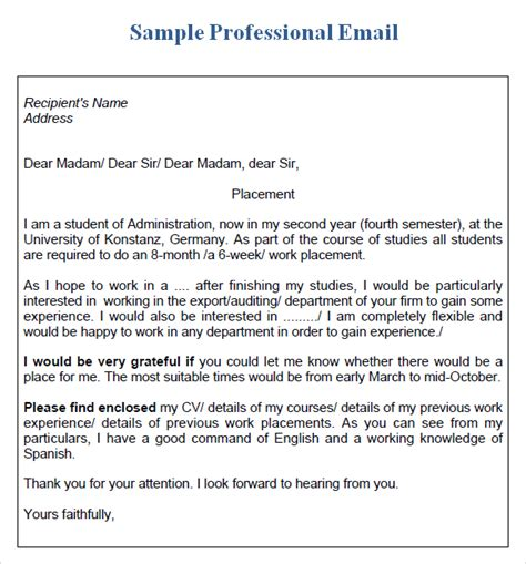 business letter email format sle business email exle format proper business email format