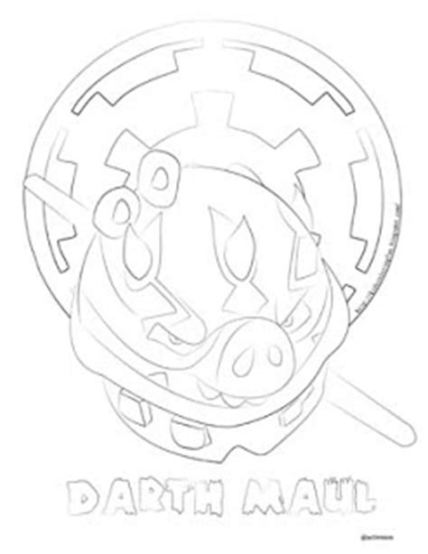 Angry Birds Wars 2 Coloring Pages Darth Maul all free coloring page for