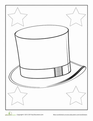 coloring page top hat top hat coloring pages