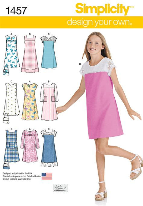 jeans dress pattern design your own girl simplicity girls jumper dress