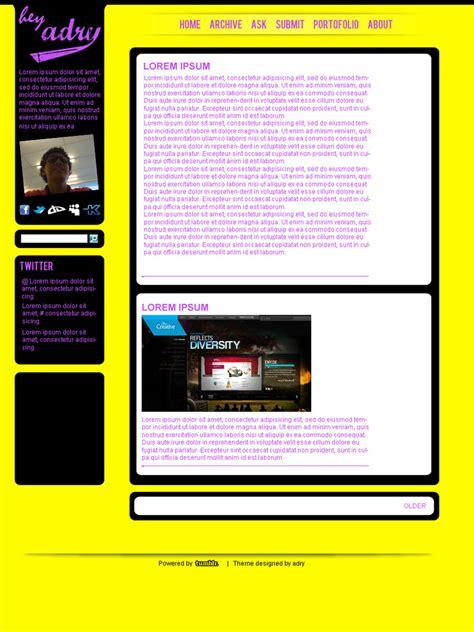 tumblr themes deviantart tumblr theme by adraaay on deviantart