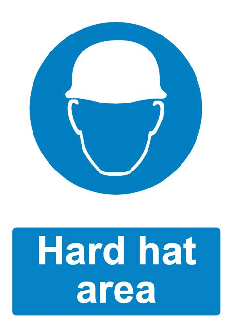 printable hard hat area sign free signage uk printable mandatory signs