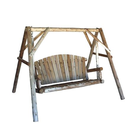 swing outlet shop lakeland mills natural cedar porch swing at lowes com
