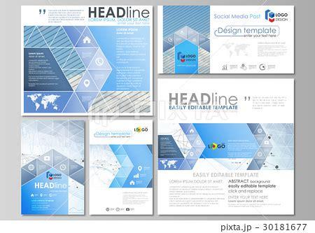 Social Media Posts Set Business Templates Vectorのイラスト素材 30181677 Pixta Data Studio Social Media Template