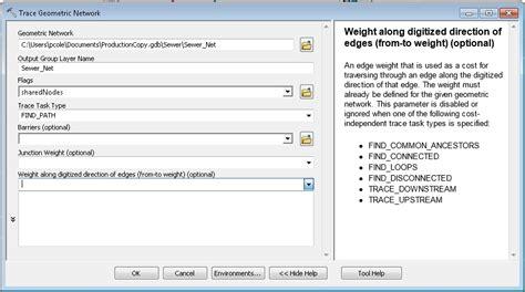 arcgis tutorial geometric network arcgis desktop filter edges in a geometric network trace