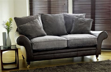 Atlanta Leather Fabric Sofa Leather Sofas Leather With Fabric Sofas