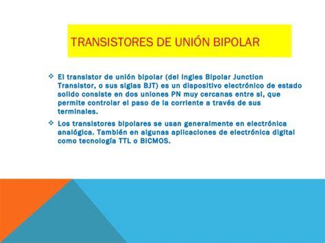 transistor de union bipolar aplicaciones transistores