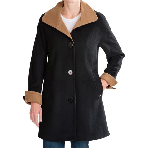 wool swing coat ellen tracy wool color block swing coat for women save 58
