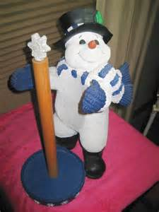 snowman paper towel holder heavy snowman unscrews base for sale collectibles everywhere