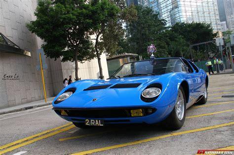 Miura S Lamborghini by Blue Lamborghini Miura S In Hong Kong Gtspirit