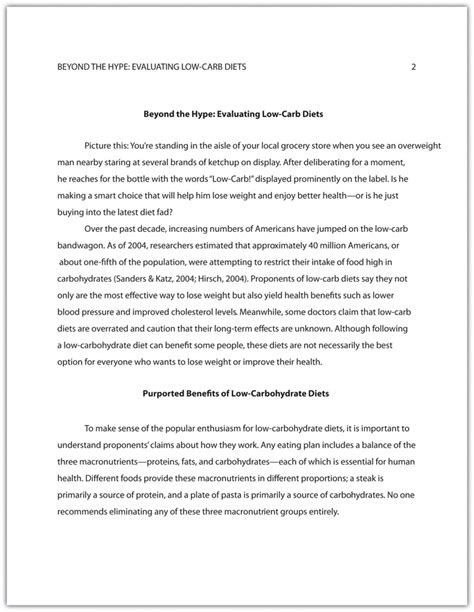 Apa Essay Format Template by Exle Of A Research Paper Written In Apa Style