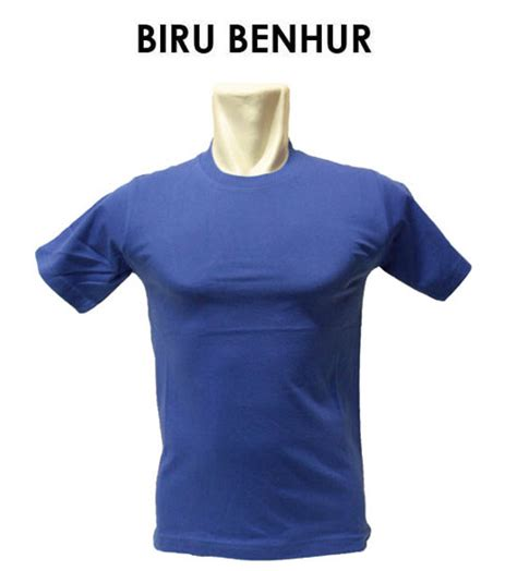 Kaos Polos Lengan Penjang Warna Biru Benhur Kaos Polos Biru Benhur 1 warna dan model kaos jasasabloncepat