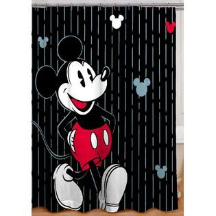 mickey shower curtain mickey tuxedo shower curtain give your bathroom a new